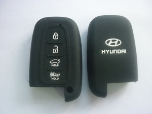 Силиконовый чехол на ключ HYUNDAI IX35, New Sonata, Equus, 4 кнопки: