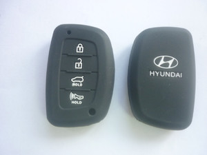 Силиконовый чехол на ключ HYUNDAI New IX35 4 кнопки smart