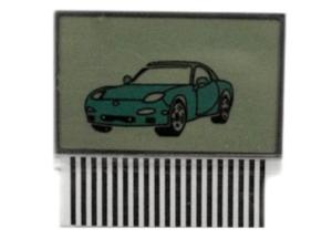 LCD дисплей на шлейфе для брелока TOMAHAWK TW9010 (узкая антенна)
