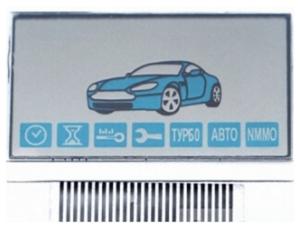 LCD дисплей на шлейфе для брелока StarLine A91