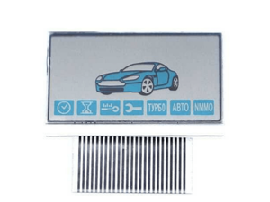 LCD дисплей на шлейфе для брелока StarLine A93 / A63 / A36 / A39 горизонтальный